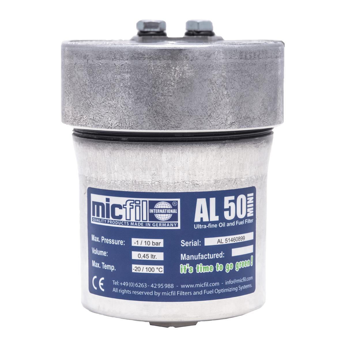 Micfil AL50MINI brandstoffilter - oliefilter systeem