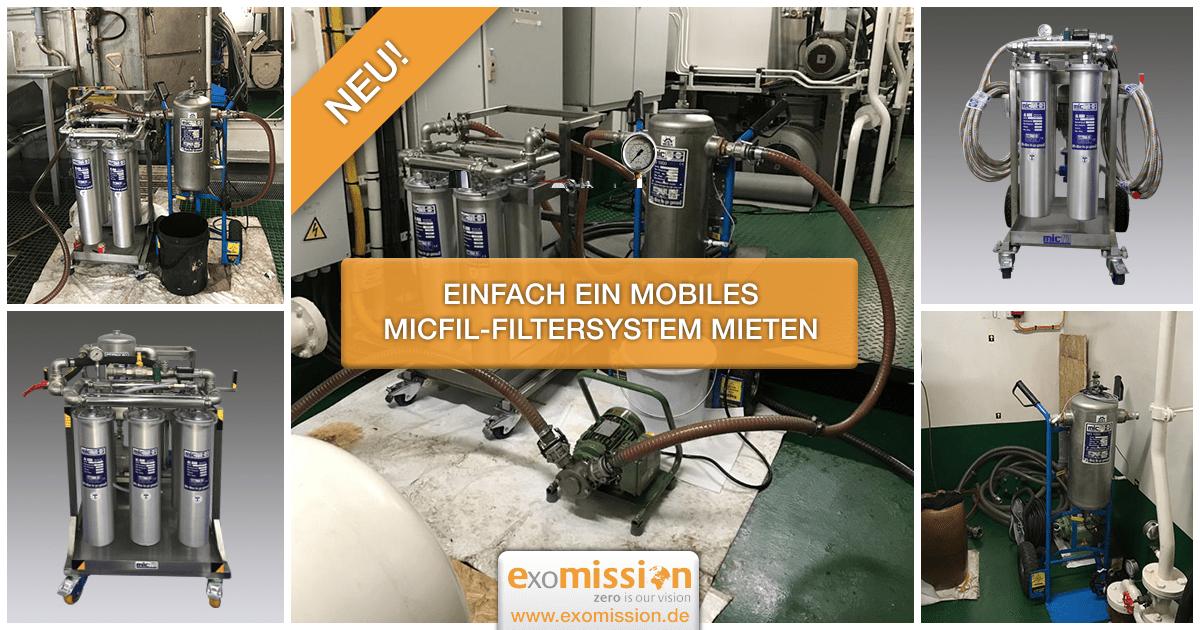 Einfach ein mobiles MicFil-Filtersystem mieten