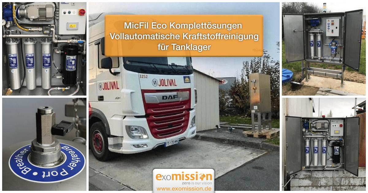 MicFil Eco Komplettösungen Vollautomatische Kraftstoffreinigung für Tanklager